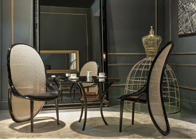Gabriella Asztalos - Wiener chair with Lady lamp